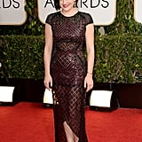 Elisabeth Moss at the Golden Globes 2014