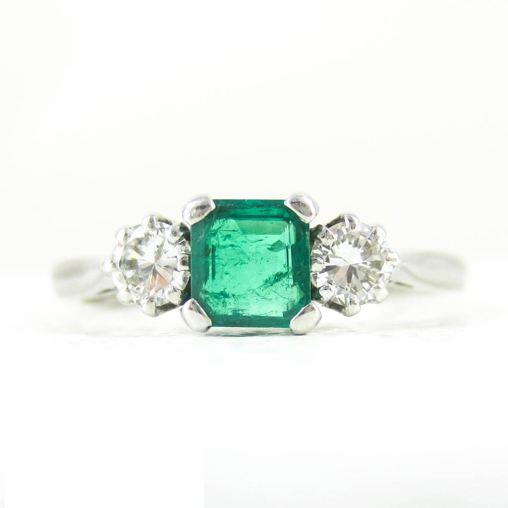 Vintage emerald and diamond engagement ring ($1,271)