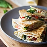 Spinach, Feta, and Red Pepper Breakfast Quesadillas