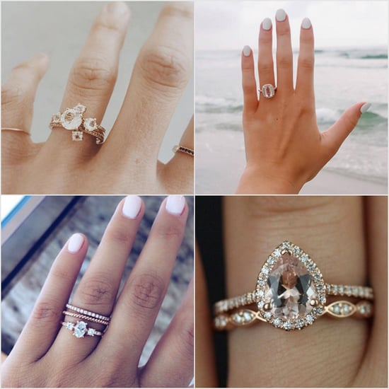 Real-Girl Rose-Gold Engagement Ring Ideas