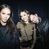 Joan Smalls With Jessica Alba and Derek Blasberg