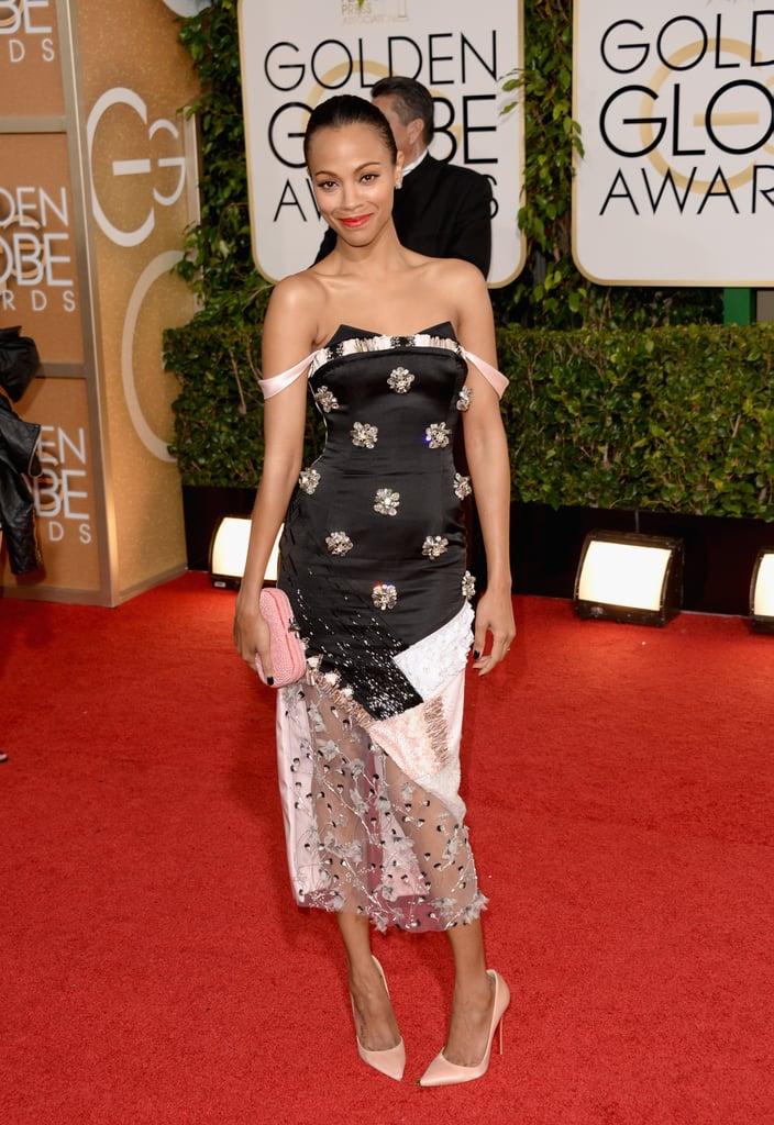 Zoe Saldana Stuns at the Golden Globes