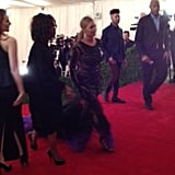 The ever-stunning Beyoncé made her Met Gala arrival in a breathtaking Givenchy gown.