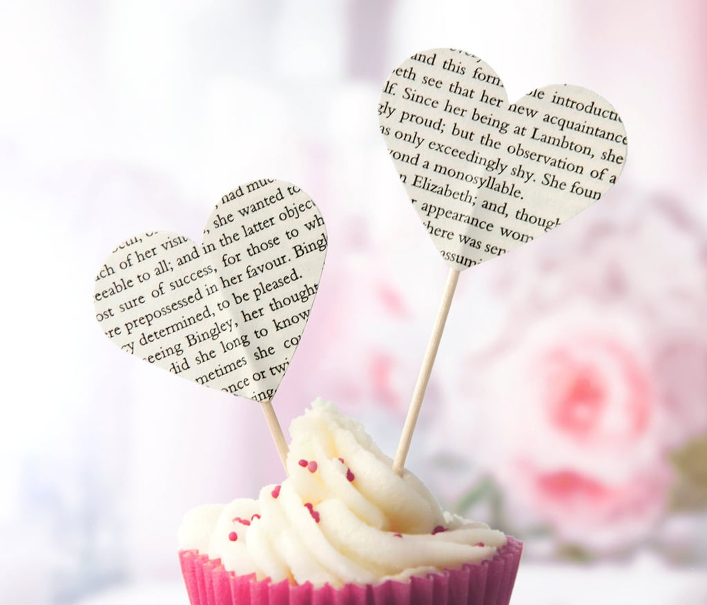 Book Page Cake Toppers