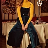 Urban Outfitters Emmabella Velvet Straight-Neck Jumpsuit