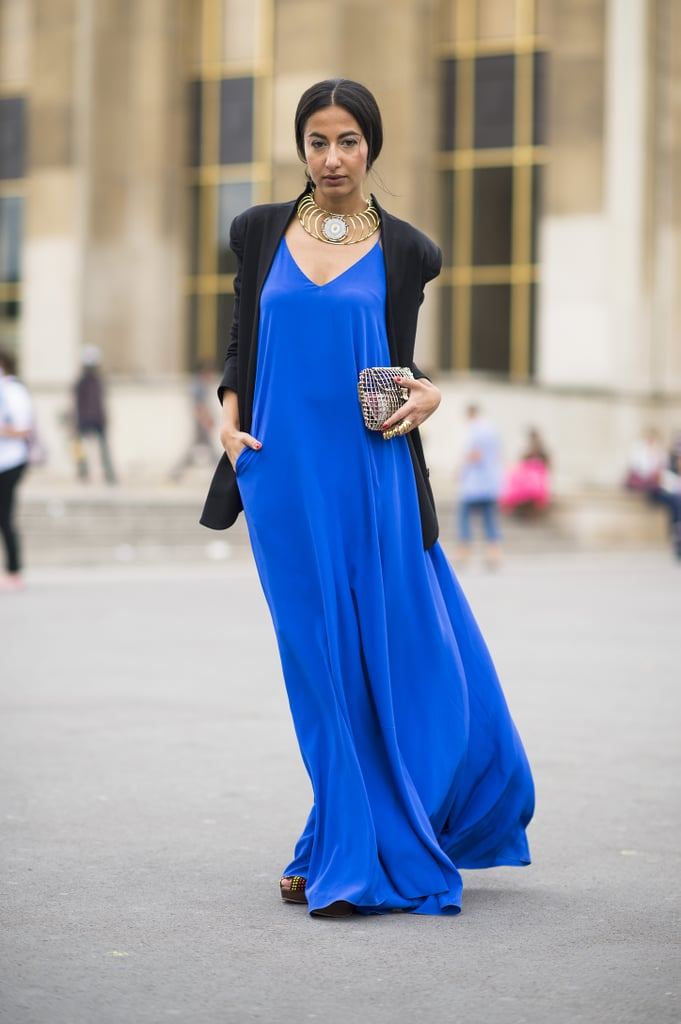 There's something so gorgeous about a super saturated lapis blue. We love this billowing maxi! Source: Le 21ème | Adam Katz Sinding