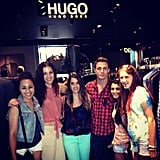 Colton Haynes posed with some Teen Wolf fans at Hugo Boss. Source: Instagram user coltonlhaynes
