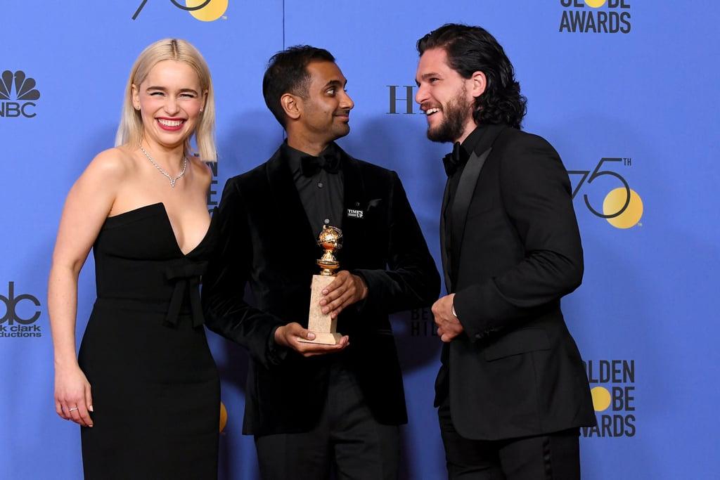 Pictured: Emilia Clarke, Aziz Ansari, and Kit Harington