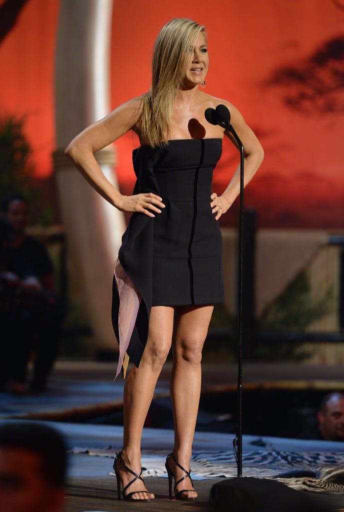 Jennifer Aniston in Strapless Dior Dress