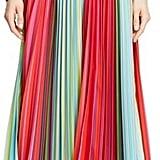 Mary Katrantzou Pleated Rainbow Stripe Midi Skirt ($1,535)