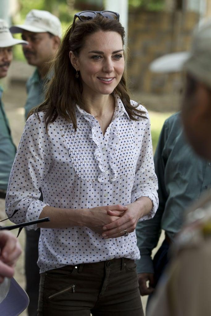 Kate Middleton Wearing Zara Trousers in India 2016