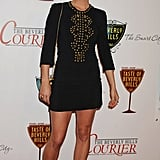 Jessica Stroup always busts out the cutest dresses, and this studded LBD is no exception. Her Aldo pumps are classic.