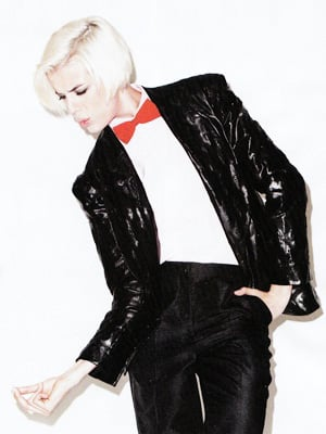 Agyness Deyn as Michael Jackson for Harper's Bazaar, September 2009