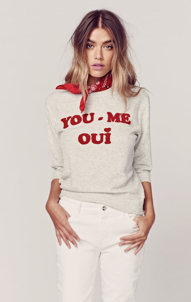 She won't just appreciate the adorable homage to Paris on this Zoe Karssen YOU ME OUI sweatshirt ($158); she'll also love how chic it is.