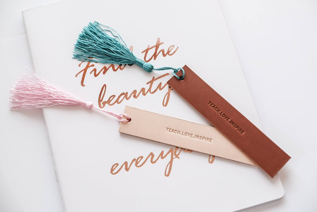 Personalized Leather Bookmark ($13)