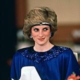 Sapphire headband and earrings