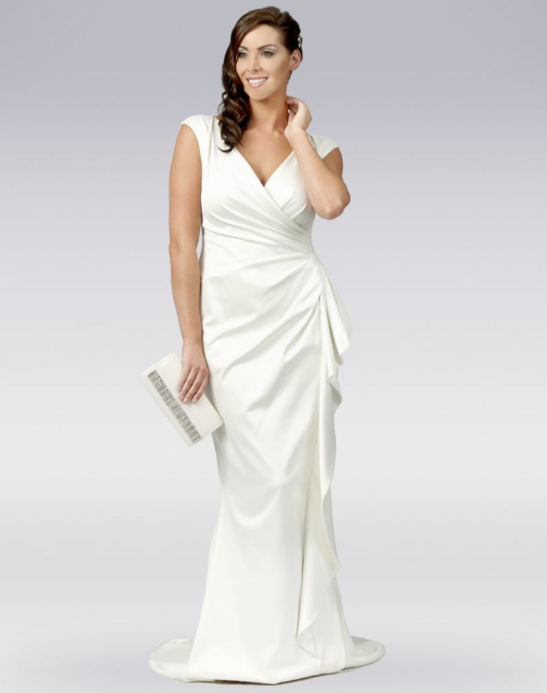 Affordable off the rack wedding dresses to buy now popsugar dbut ivory satin wrap wedding dress 69 ombrellifo Gallery