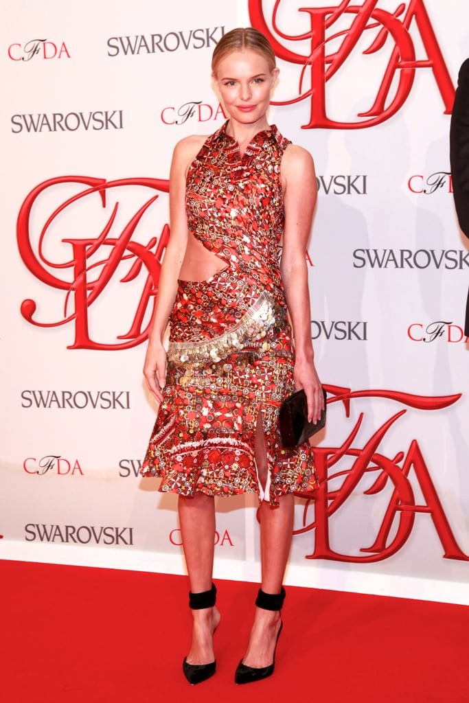 For us, Kate Bosworth's standout CFDA outfit came last year in this ornately embellished red dress by Altuzarra.