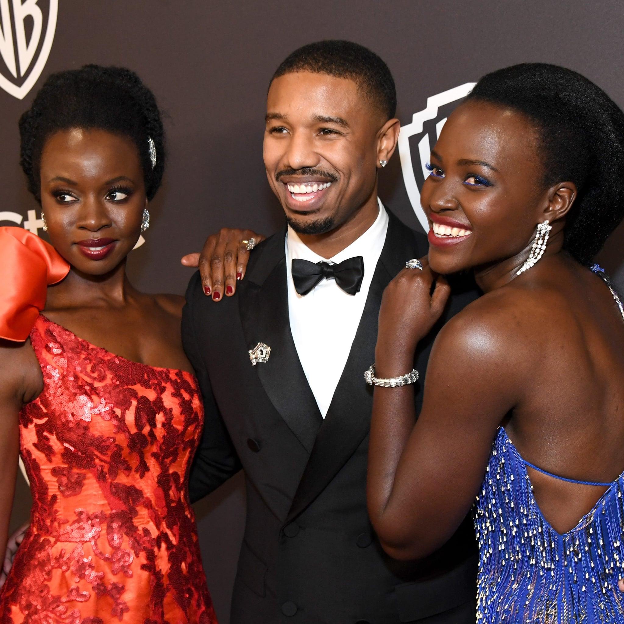 Black Panther Cast Golden Globes Elevator Video 2019 Popsugar