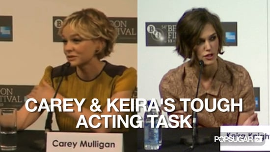 Video of Carey Mulligan and Keira Knightley at the London Premiere of Never Let Me Go 2010-10-13 14:30:42
