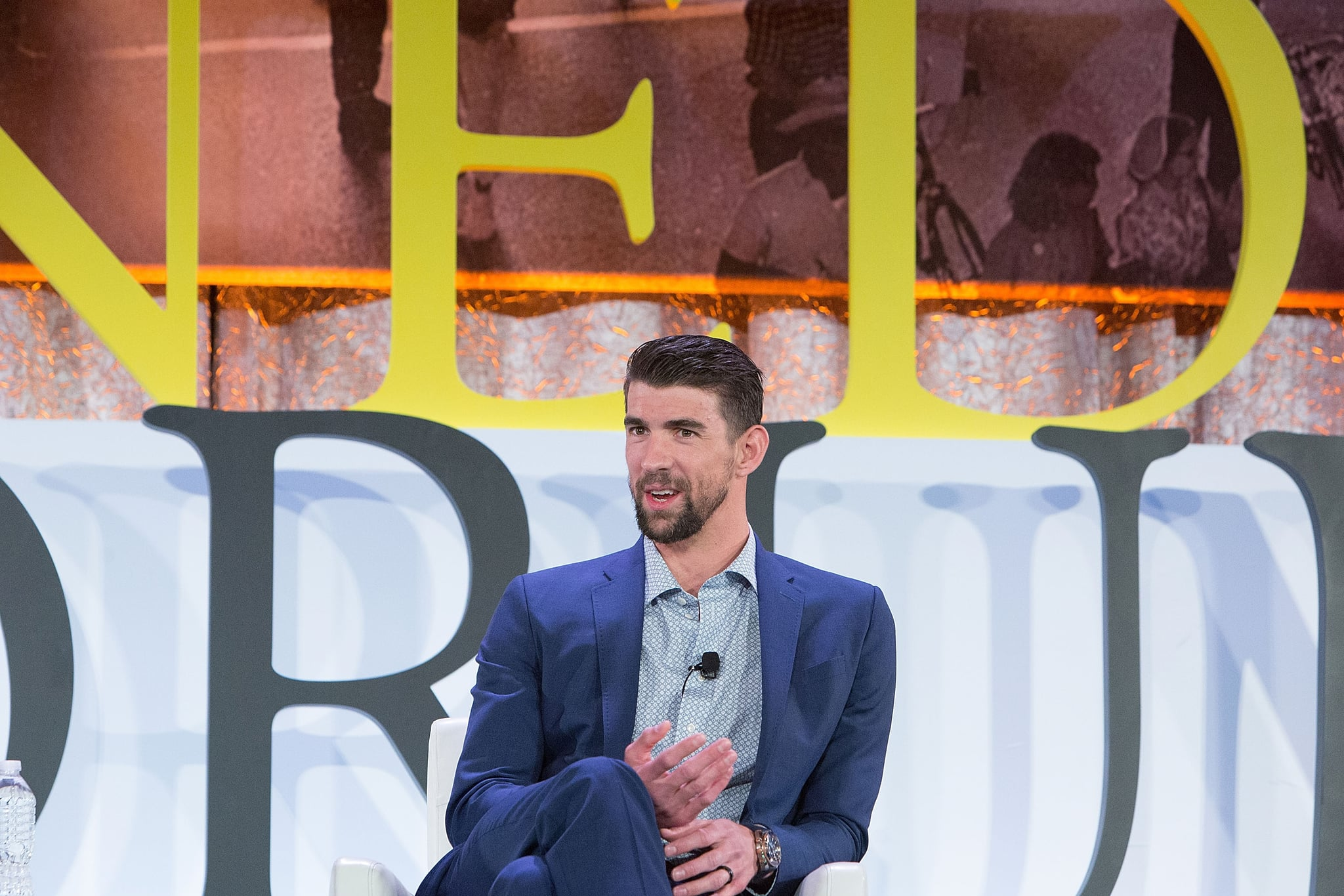 CHICAGO, IL - JANUARY 16:  28-time Olympic Medalist Swimmer Michael Phelps was among the advocates speaking at The Kennedy Forum National Summit On Mental Health Equity And Justice In Chicago at the Chicago Hilton and Tower Hotel on January 16, 2018 in Chicago, Illinois.  (Photo by Jeff Schear/Getty Images for Kennedy Forum)