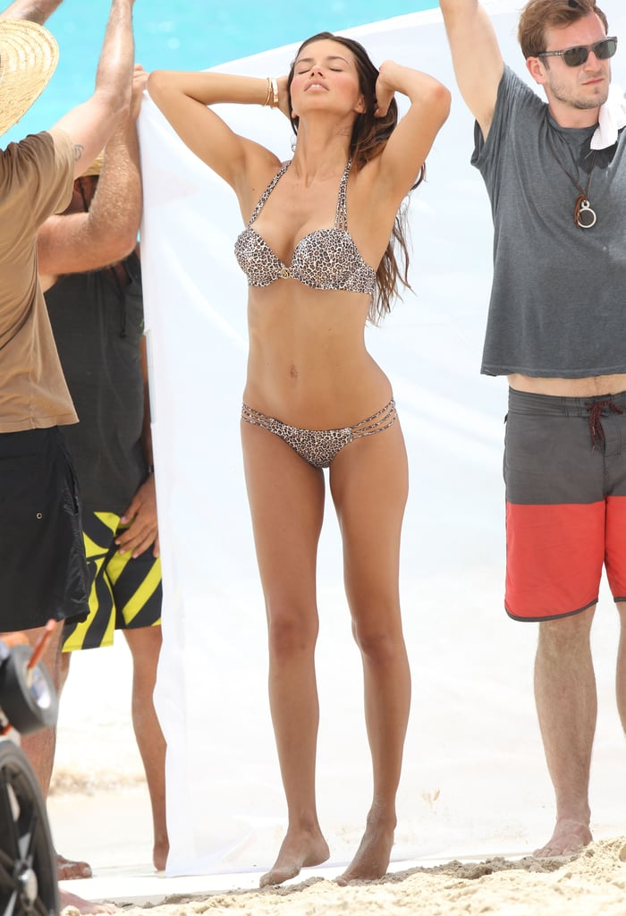 Adriana Lima Models Bikinis in Her First Shoot Since Giving Birth