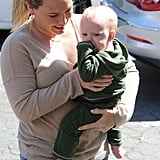 Hilary Duff and Luca Comrie made a stop in Beverly Hills.