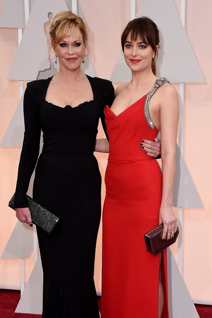 Melanie Griffith and Dakota Johnson at the 2015 Oscars