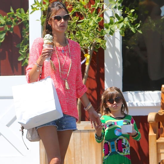Alessandra Ambrosio and Anja Mazur Getting Ice Cream