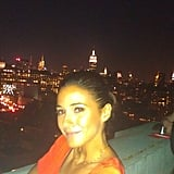 Emmanuelle Chriqui snapped a pic in NYC.  Source: Twitter user echriqui