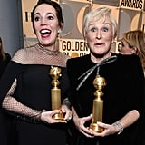 When Olivia and Glenn Close were thrilled to be at the Golden Globes.