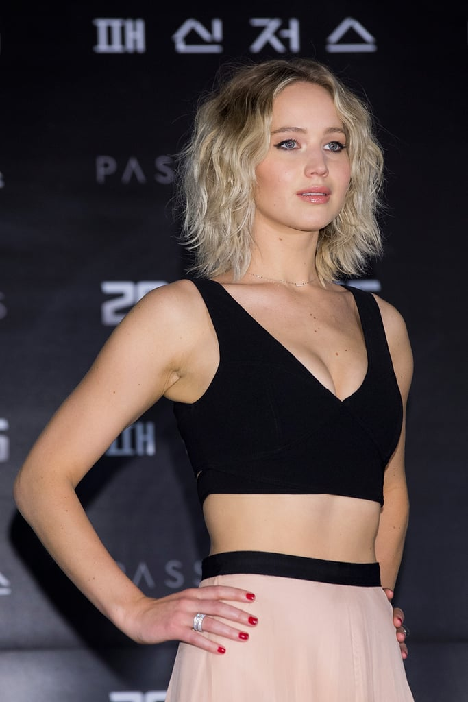 Jennifer Lawrence Wavy Long Bob Hair Inspiration Popsugar Beauty