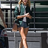Hailey Baldwin's Varsity Jacket