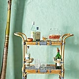 Woven Bistro Indoor/Outdoor Bar Cart