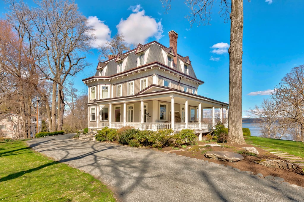 If you were a fan of the movie Stepmom in the 1990s, it's pretty likely you remember the gorgeous Victorian home Susan Sarandon's character lived in. But what if I told you that now it's possible for you to move in, too? Yup, the exact home from the 1998 drama was just put on the market by Christie's International Real Estate, and it could be yours if you happen to have an extra $3.75 million lying around.  The house, named Glenholme, is located in Nyack, NY, which is an hour outside of Manhattan. According to the listing, Glenholme is a six-bedroom, four-bathroom home with sweeping lawns, a cascading waterfall brook, and a wraparound veranda that you'll instantly recognize from the film. Inside is a living room with four sets of French doors and a fireplace, an intimate study, and a dining room with a secret passageway to an eat-in kitchen. The kitchen itself has three ovens, two dishwashers, two refrigerators, a wine cooler, and stainless-steel sinks. Keep reading to see photos of beautiful home.      Related:                                                                                                           John Stamos's Home Is Now on the Market, and Have Mercy, It's a Beaut!