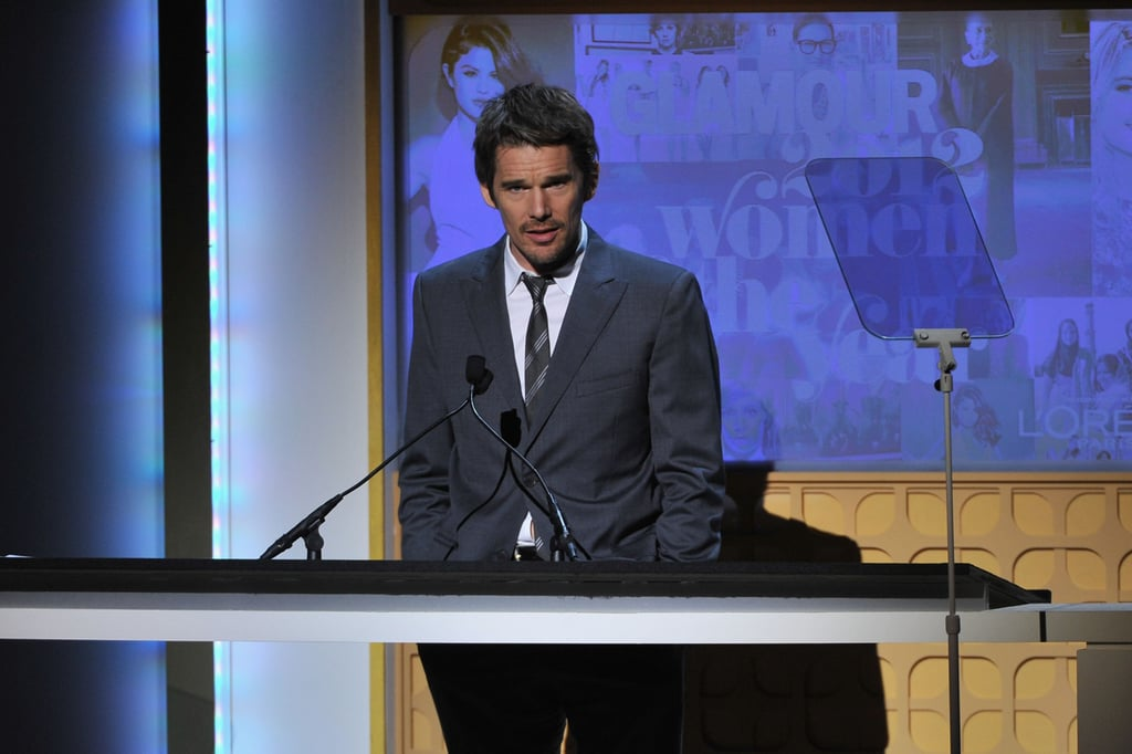 Ethan Hawke was on stage at the awards in NYC.
