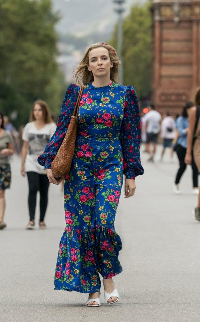 Killing Eve: Shop Villanelle's Exact Blue Floral Maxi Dress