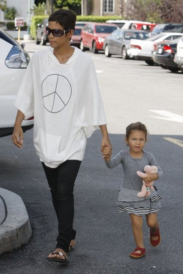 Halle Berry went grocery shopping at Bristol Farms supermarket with Nahla