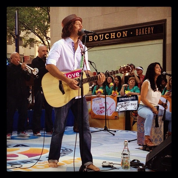 Jason Mraz performed on the US Today show. Source: Instagram user todayshow