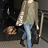 Anne Hathaway and Adam Shulman arrived in Tokyo