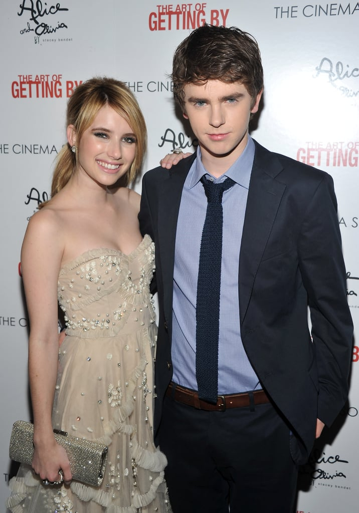 Freddie Highmore The Art Of Getting By Emma Roberts and Fredd...