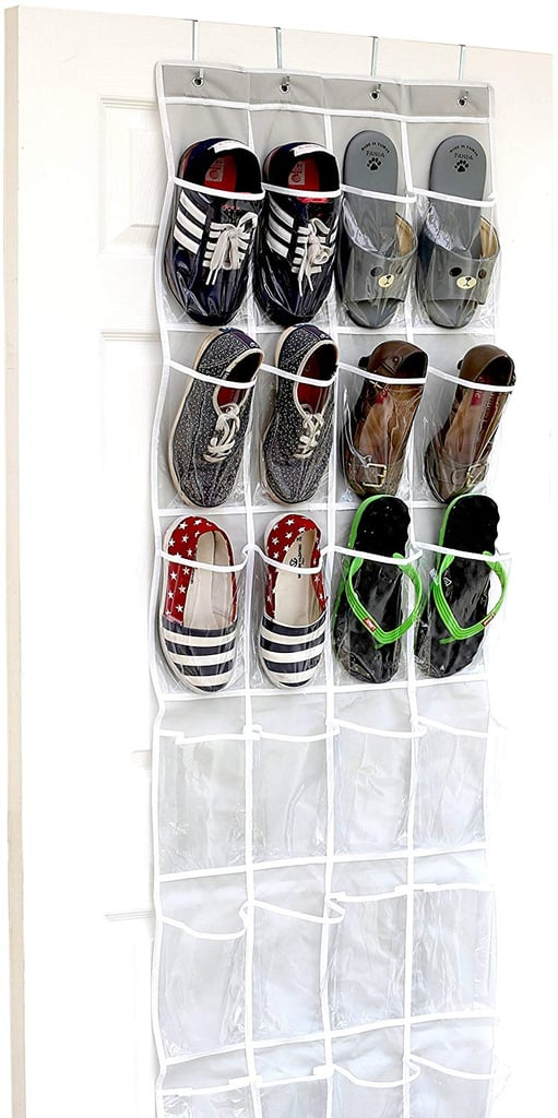 You can't go wrong with a classic, and the SimpleHouseware Crystal Clear Over The Door Hanging Shoe Organizer ($8) is just about as trusty as shoe storage comes. From sandals to sneakers, it'll save you tons of valuable floor space.