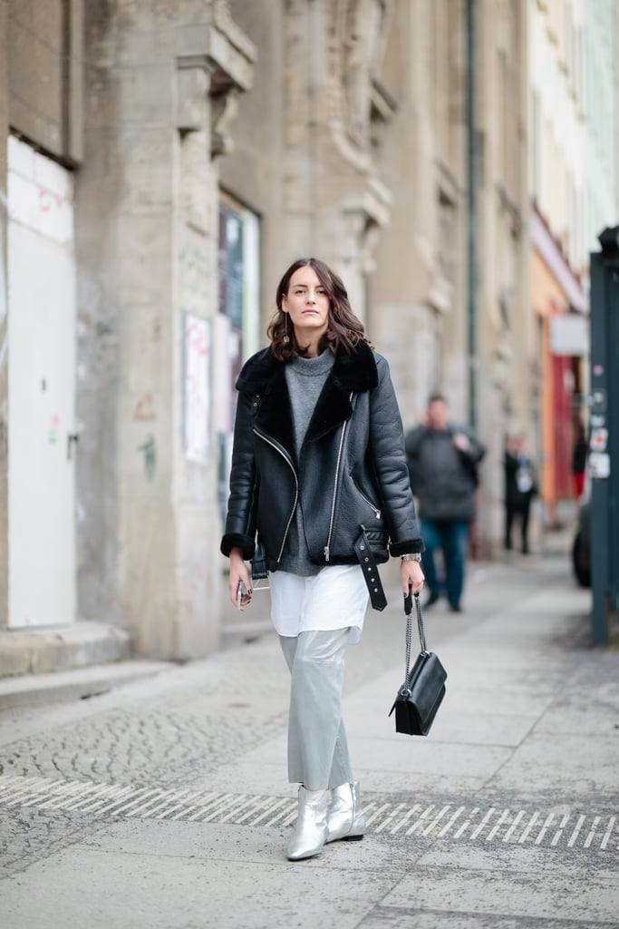 A Cozy Jacket to Warm Up Cropped Trousers