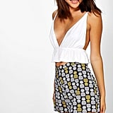 Boohoo Lisa Pineapple Print Woven Flippy Shorts ($16)