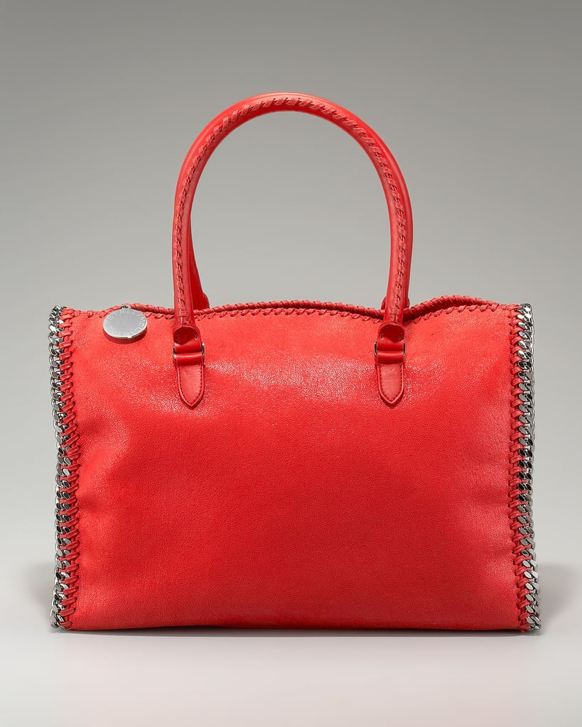 Make a statement — a bright red one — with Stella McCartney's chain-trim doctor bag ($1,245). We've got to say, between the vibrant color and the cool metal trim, this also happens to be one of the edgier doctor bag statements you could make.