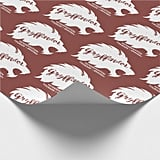 Harry Potter Gryffindors Silhouette Typography Wrapping Paper