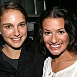Lea was visited by pal Natalie Portman backstage after a July 2007 performance of Spring Awakening in NYC.