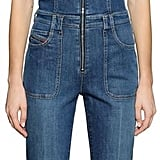 Diesel Cotton Denim Wide Leg Overalls