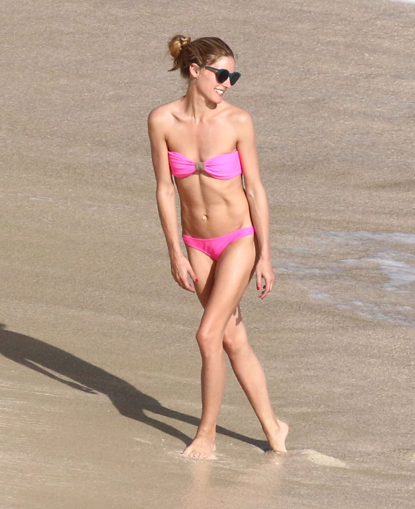 In January 2016, Olivia Palermo stunned in a pink bikini on the beach in St. Barts.