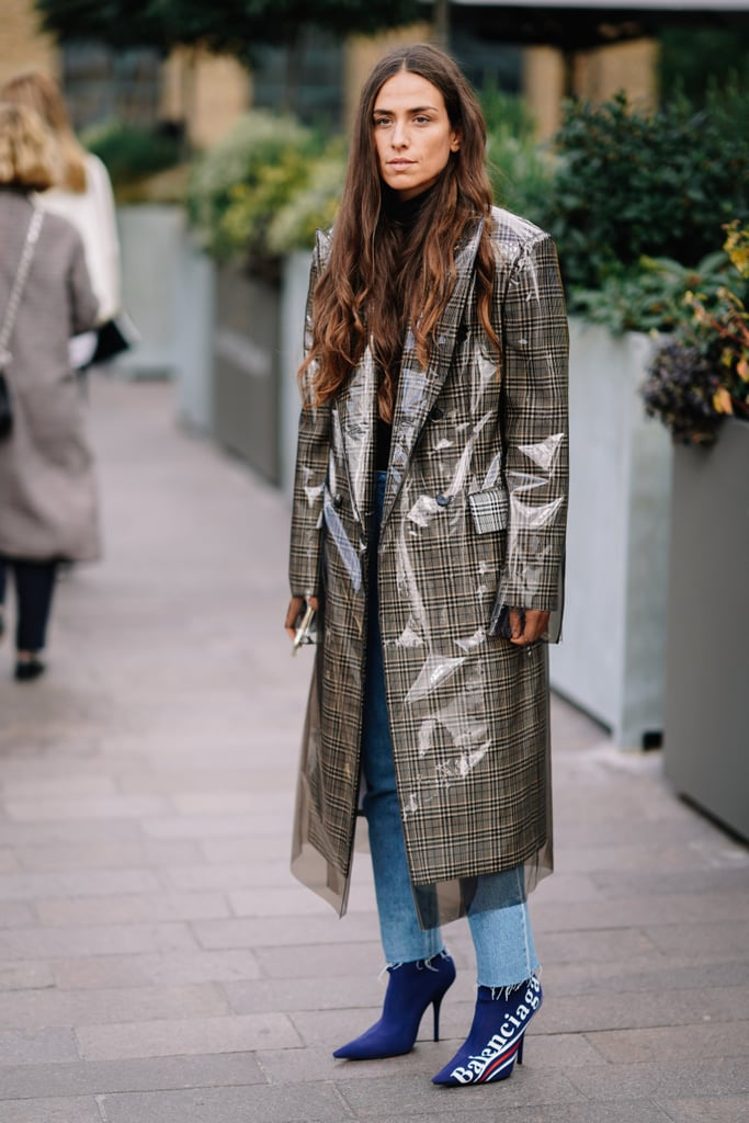Coordinate your statement coat with a shoe that's just as noticeable.